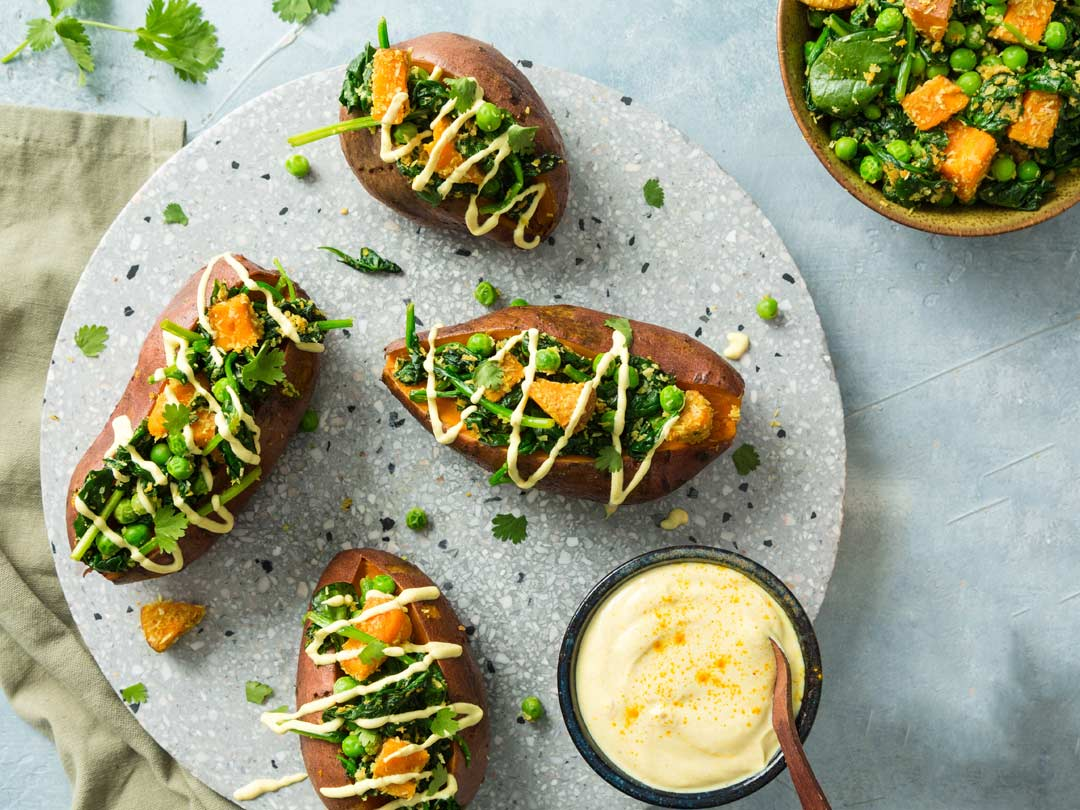 Gefüllte Süßkartoffeln Rezept