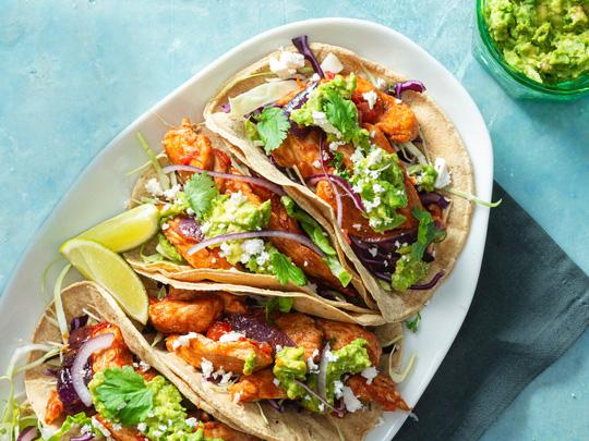 Chicken Tacos mit Krautsalat
