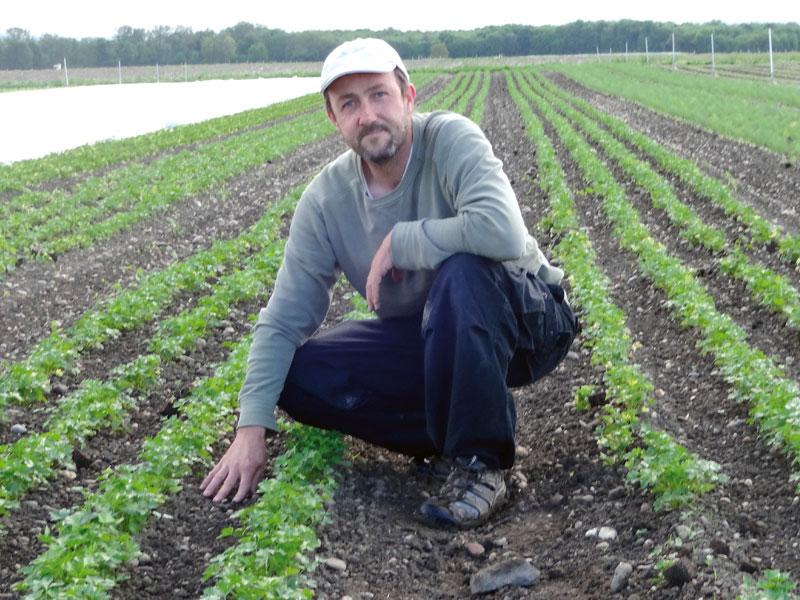 Bio-Bauer im Einsatz für Das grüne Salz Bio-Kräutersalz